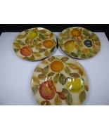"""SET OF 3 - MODIGLIANI FRUTTA LACCATA 10-3/4"""" DINNER PLATES - HAND PAINTE... - $98.00"""