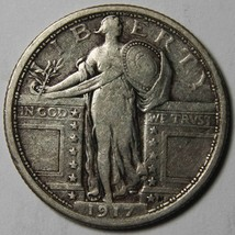 1917 Type 1 STANDING LIBERTY QUARTER 25¢ Coin Lot# MZ 4226