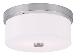 Livex Lighting 50862-91 Meridian 2-Light Ceiling Mount, Brushed Nickel - $140.82