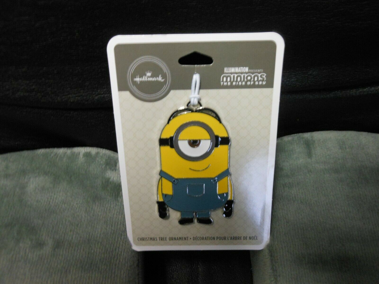 "Primary image for Hallmark ""Stuart - Minions, The Rise Of Gru"" 2019 Flat Metal Ornament NEW"