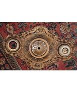 Antique Eastlake Art Deco Nouveau Cast Metal LABCO 2572 Ceiling 2 Light ... - $129.99