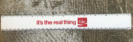 "Vintage 1970's Coca Cola Coke It's The Real Thing Ruler 12"" Advertisement - $6.93"