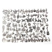 100pcs/lot Mixed Antique Silver Color European Bracelets Charm Pendants ... - $9.92