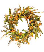 """Autumn Fall Garden Wreath 20"""" Door Wall Porch  - $69.99"""