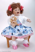 "Baby Shay Rubert Porcelain Doll Blue Eyes 24"" Lifelike Pigtails Mannequi... - $121.67"