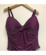 Tropical Escape Plus Size Purple Solid TOP Adjustable Strap SIZE 20W, PU... - $23.74