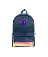 "FAB L2D 17"" Metallic Denim Backpack Blue NWT - $22.28"