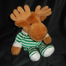 "13"" VINTAGE 1993 COMMONWEALTH MOOSE IN GREEN PAJAMAS STUFFED ANIMAL PLUS... - $31.09"