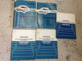 1985 TOYOTA CRESSIDA & Station Wagon Service Shop Repair Manual Set OEM ... - $148.45