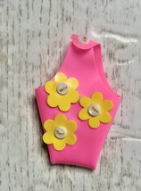 Mattel Vintage 1960s Skipper Fancy Pants #1738 Pink Purse w/Yellow Daisi... - $11.99