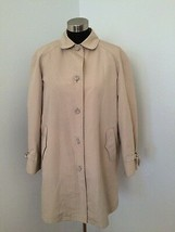 London Fog Women A-Line Swing Coat 16 Regular Removable Faux Fur Lining ... - $49.49