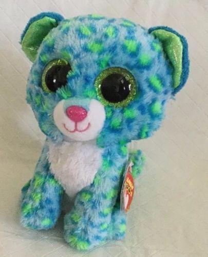 211b346bbaf Ty Beanie Boos Leona Blue Leopard 6