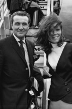 Patrick Macnee and Diana Rigg in The Avengers Posing by Pan Am Aircraft London A - $23.99