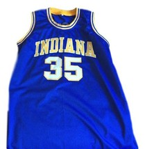 Roger Brown #35 Indiana Aba Retro Basketball Jersey New Sewn Blue Any Size image 1