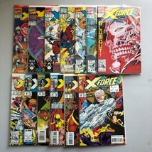 Lot of 13 X-Force (1991 1st Series) #1-4 6 7 13 14 22 23 26 27 28 VF Ver... - $37.62