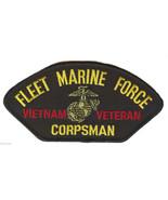 "FLEET MARINE FORCE MARINE CORPS CORPSMAN 6"" EMBROIDERED VIETNAM VETERAN ... - $17.14"