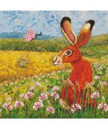 Holmsey Hare In Clover cross stitch chart Paine Free Crafts  - $18.00