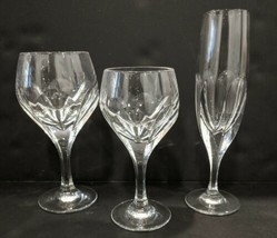 Gorham Sonja Flute, Wine & White Wine Glasses Cut Crystal Lot - $64.35