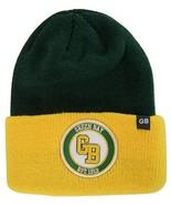 Green Bay GB Patch Cuff Knit Winter Beanie Hat (Green/Gold) - $13.95