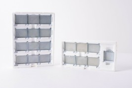 Lot of 2 Department 56 Village Accessories Chain Link Fence Extensions C... - $39.59