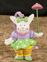 3 Avon Easter Bunny Clown Perfect Juggler Parading Parasol Plastic Figures  image 2