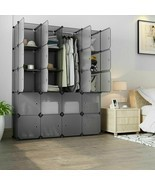 20-Cube Modular Closet Organizer Bookcase Rack Clothes Shelf Storage Cab... - £192.46 GBP