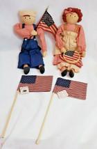 Patriotic Ann & Andy Hand made doll collectable Folk ART Char Ozark Mtn ... - $89.09