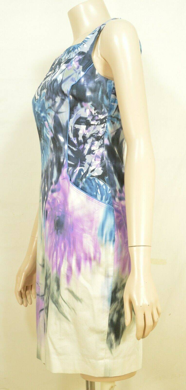 Elie Tahari dress SZ 2 LOT of 2  1 turquoise 1 floral sheath career chic lined image 9