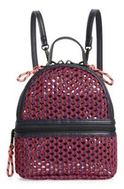 NEW Steve Madden Btanya Red Blue Mesh Clear Mini Convertible Backpack MSRP