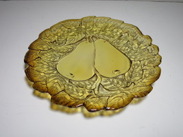 Indiana Glass Tiara Sweet Pear Amber Salad or Bread & Butter Plate - $7.69