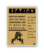 Motivational Quotes Retro Posters Wall Art Photo Print Office Living Room Tube - Freebie