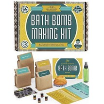 Bath Bomb Making Kit with 100% Pure Therapeutic Grade Essential Oils, Makes 12 D - $63.26