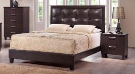 MYCO Furniture BR1238-Q Bravia Walnut Brown Pad... - $780.00