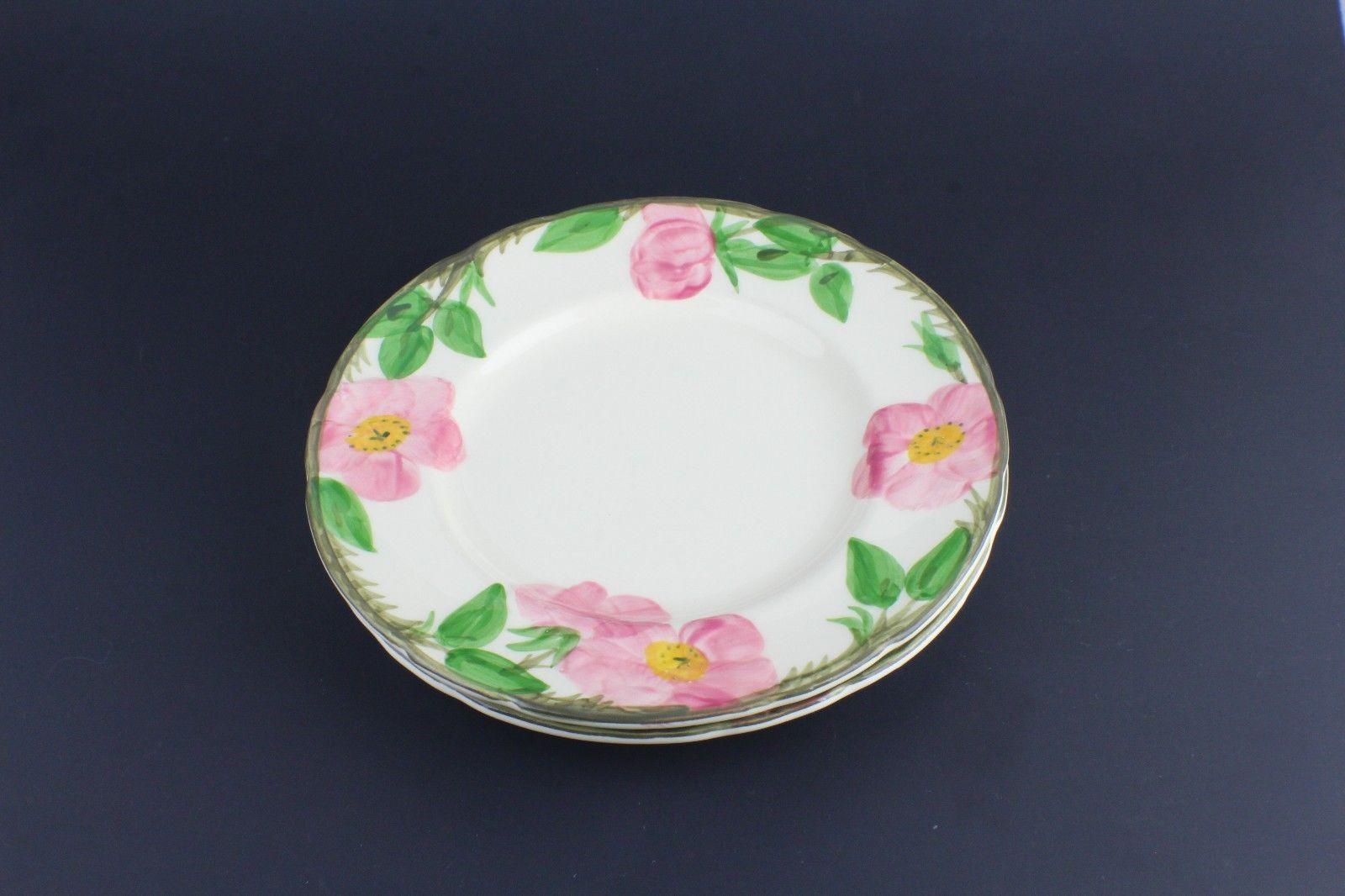 "Franciscan China Desert Rose Salad Plate 8"" USA Mark Set of 2 - $21.78"