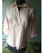 Marks & Spencer Women's 3/4 Sleeve Pink Blouse Top Shirt Size 18 UK/ 16 US - $33.66