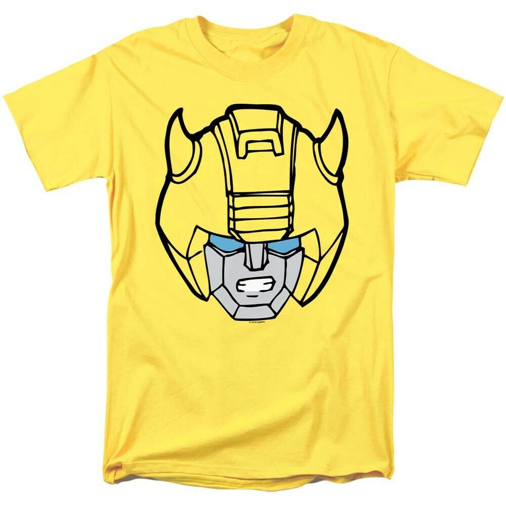 Transformers bumble bee head t shirt retro 80s toys saturday cartoon yellow tee 2