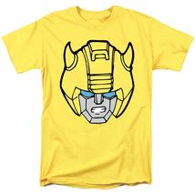 Transformers bumble bee head t shirt retro 80s toys saturday cartoon yellow tee 2 thumb200
