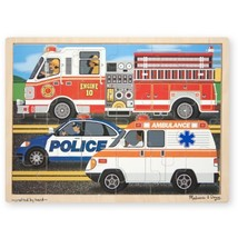 Melissa & Doug To the Rescue! Wooden Jigsaw Puzzle - Rescue Vehicles (24 pcs) - $9.65