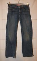 Boys Prefaded Arizona Jean Co Relaxed Fit Straight Leg Jeans Size 12 R fair - $3.46