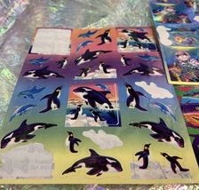 4 Sheets Incomp Lisa Frank Dolphin Max Whales  Shark Fish Penguin Seal Skeeter image 3