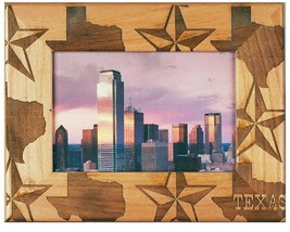 Texas Laser Engraved Wood Picture Frame (4 x 6)  - $29.99