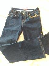 Baby Phat Crown Jeans 11 Juniors Women blue denim cat LR - $20.00