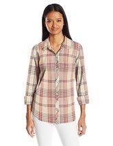 O'Neill Junior's Birdie Plaid Shirt, Oatmeal/Oat, XS