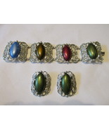 "Vintage Sarah Coventry ""Carrousel"" Bracelet and Clip Earrings Set - 1960s - $12.99"