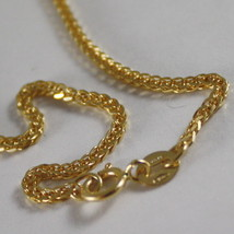 SOLID 18K YELLOW GOLD CHAIN NECKLACE WITH EAR LINK, 15.75 IN. MADE IN ITALY image 2