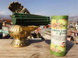 Green Tara Tibetan Tibetan Mini Incense Stick  ,Nepal - $4.90