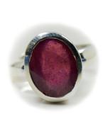 Fashion Ruby Silver Ring Jewelry 7 Carat Adjustable July Gemstone Chakra... - $921,79 MXN