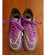 NIKE Hypervenom Phelon II 2 Grape Purple Soccer Cleats Shoes SIZE 5.5y - $16.39