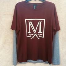 Forever 21 Layered style Men's long sleeve t shirt Burgundy size Medium - $13.86