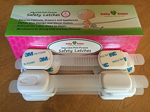 BabyKeeps Child Safety Locks - Latches to Baby Proof Cabinets, Drawers, Applianc